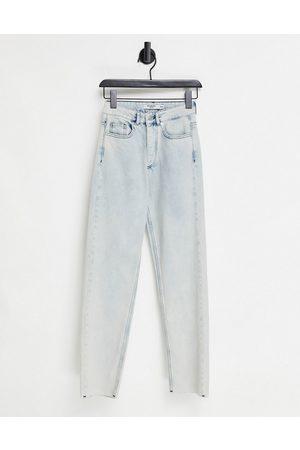 Bolongaro Montana Raw Hem Jeans in Acid Wash Light Indigo