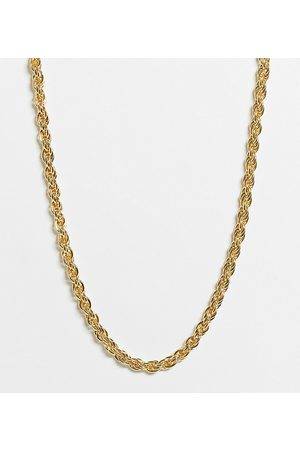 DesignB London Exclusive chunky twisted necklace in gold