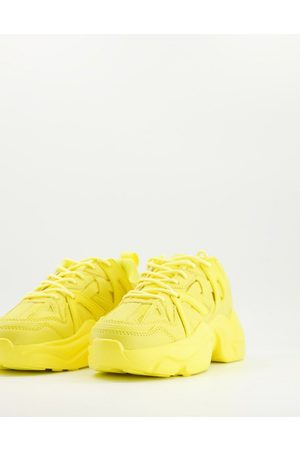 ASOS Deejay chunky sole trainers in yellow