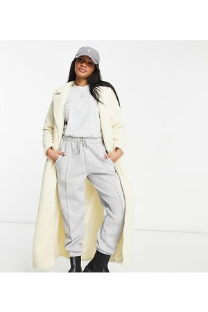 Parisian Tie waist borg midaxi coat in cream