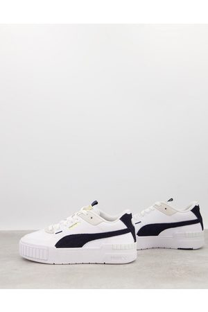 PUMA Cali Sport chunky trainers in navy