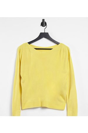 ONLY Mujer Cárdigans - Boatneck jumper in yellow