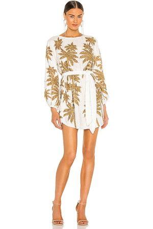 Retrofete Mujer Cortos - Minivestido grace en color white,metallic gold talla M en - White,Metallic Gold. Talla M (también en S).