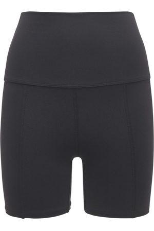 "LIVE THE PROCESS Mujer Pantalones y Leggings - Shorts ""geometric"" Con Cintura Alta"