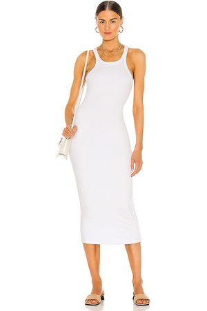 LnA Vestido midi en color talla L en - White. Talla L (también en M, S, XS).