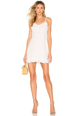 superdown Mujer Cortos - Minivestido charlee en color talla L en - White. Talla L (también en M, S, XL, XS, XXS).