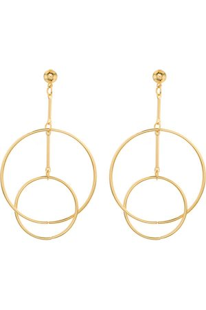 Newchic Moda Ear Drop Earrings Hollow Double Circle Combination Hoop Dangle Pendientes de la joyería para las mujeres