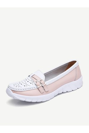 Newchic Mujer Casual Walking Hollow Slip On Zapatos planos