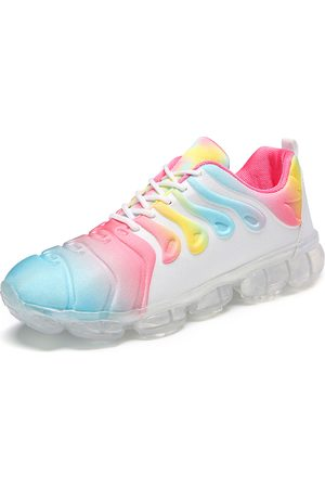 Newchic Women Large Size Multi-color Lace Up Front Cushioned Sneakers