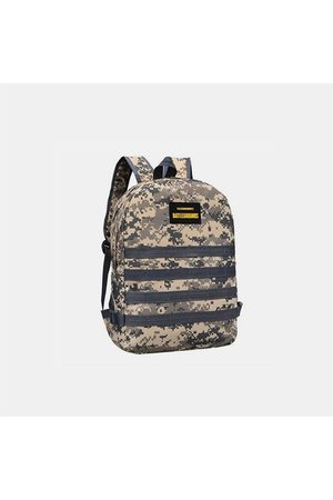 Newchic Hombres Camuflaje Oxford Cloth Student Escuela Bolsa Fashion Game Trend Mochila
