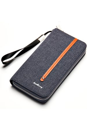 Newchic Hombre Carteras y Monederos - Canvas Zipper Clutch Bolsa Retro Multi-card Holder Wallet For Men