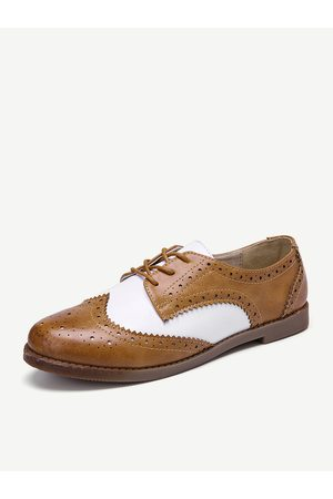 Newchic Zapatos brogue LOSTISY Color Block Lace Up Casual Mujer
