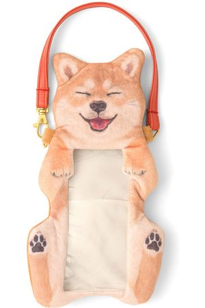 Newchic Mujer Cute Shiba Inu Perro Touch Screen Phone Purse Plush Coin Bolsa