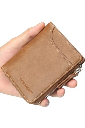 Newchic Monedero para hombre Soild Vintage Short Card Holder