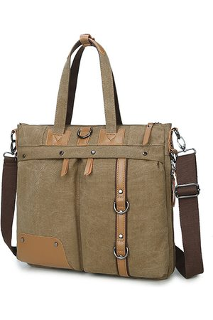 Newchic Multifuncional Crossbody Bolsa Canvas Computer Backpack High-end Briefcase For Men