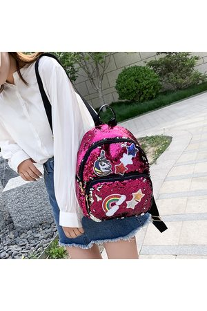 Newchic Mochila Unicornio con lentejuelas New Girl Fashion Backpack Cartoon Bolsa Mochila de viaje
