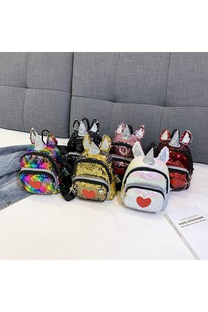 Newchic New Unicorn Backpack Girl Fashion Sequined Shoulder Bolsa Cartoon Cute Bolsa Travel Backpack