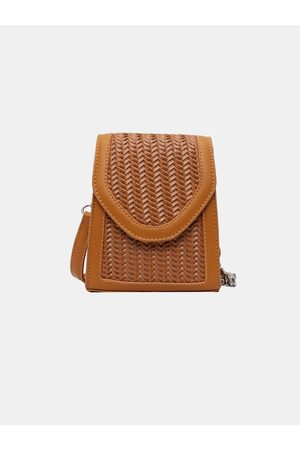 Newchic Summer Flap Straw Chain Crossbody Bolsa