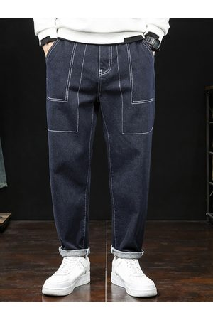Newchic Hombres Amekaji Style Solid Casual Jeans