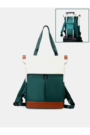Newchic Mujer Patchwork Multi-carry Impermeable Mochila Bolso Tote