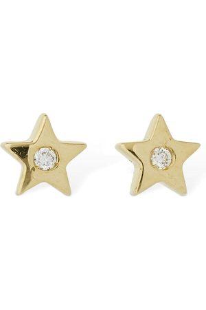 AG Pendiente Estrella De 18kt Y Diamantes