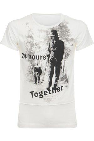 YOHJI YAMAMOTO Camiseta De Jersey De Algodón Estampada