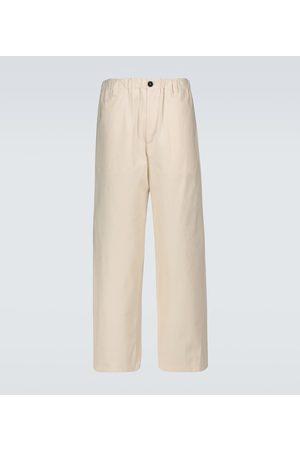 Jil Sander Hombre Anchos y de harem - Wide-leg cotton pants