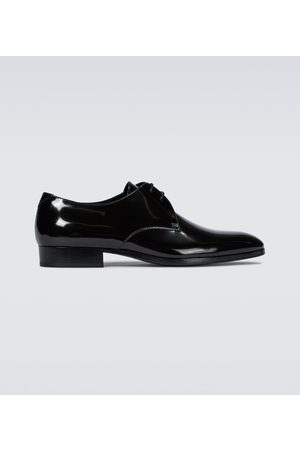 Saint Laurent Hombre Oxford - Wyatt patent leather derby shoes