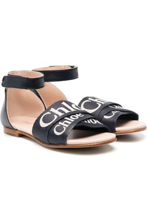 Chloé Niña Con hebilla - Sandalias con tiras con logo estampado