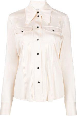 Victoria Beckham Camisa con cuello de pico