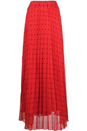 P.a.r.o.s.h. Mujer Largas - Falda larga con estampado de lunares