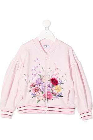 MONNALISA Chaqueta bomber con motivo floral