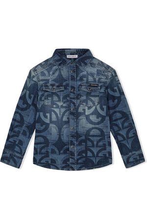 Dolce & Gabbana Niño De mezclilla - Camisa de mezclilla con monograma