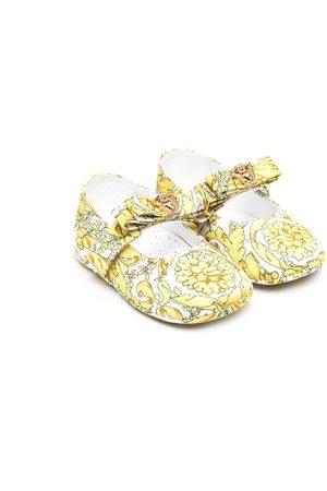 VERSACE Baroque-print ballerina shoes
