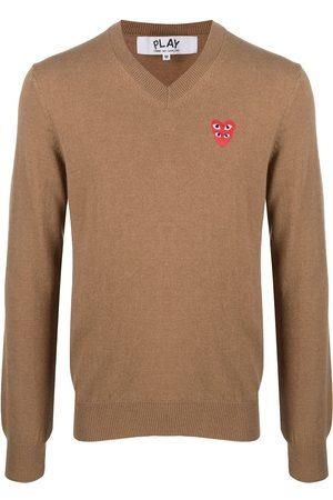 Comme des Garçons Hombre Suéteres - Suéter tejido con parche del logo