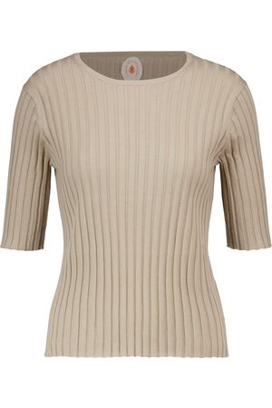 Jardin des Orangers Ribbed-knit cotton and silk top