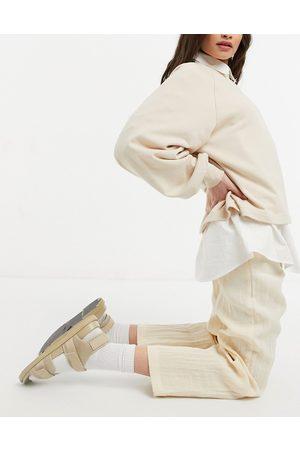 Monki Vega wide leg trousers in