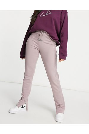 The Couture Club Rib joggers co ord in mink