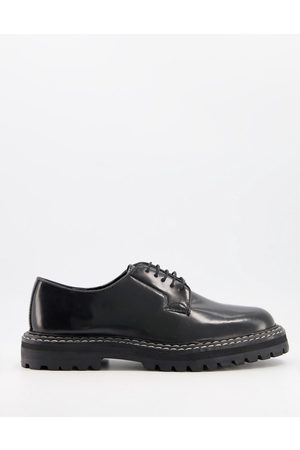 ASOS Lace up shoes with chunky sole and contrast stitch