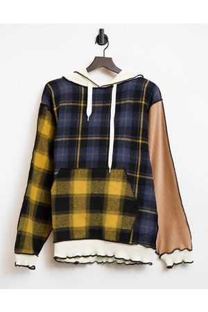 Jaded London Oversized patchwork hoodie with distressed seams co