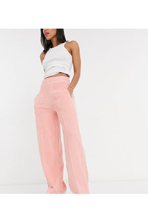 Reclaimed Vintage Inspired towelling jogger in pink