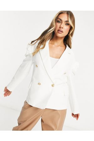 Unique 21 Puff sleeve blazer in white