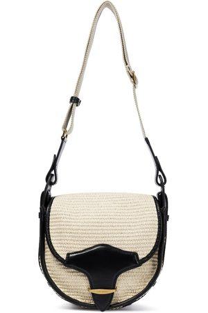 Isabel Marant Botsy leather-trimmed raffia shoulder bag