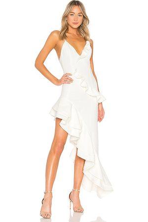 Lovers + Friends Vestido asimétrico riya en color talla L en - White. Talla L (también en S, XL, XXS).