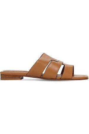 MANU Mujer Zuecos - Zapatos Mules De Piel 15mm
