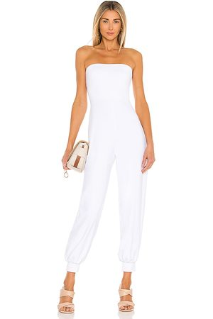 Susana Monaco Strapless cuffed ankle jumpsuit en color blanco talla L en - White. Talla L (también en M, S, XS).