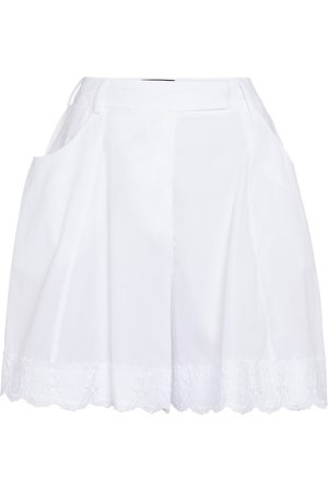 Simone Rocha Mujer Shorts - Lace-trimmed cotton shorts