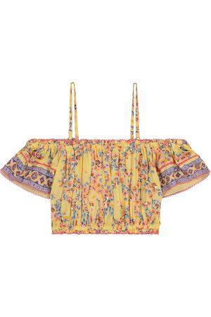 POUPETTE ST BARTH Donna floral off-shoulder top