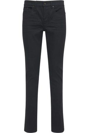 Saint Laurent Jeans Tiro Bajo De Denim Skinny Fit 15cm