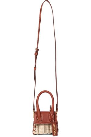 Jacquemus Le Chiquito leather and rattan tote